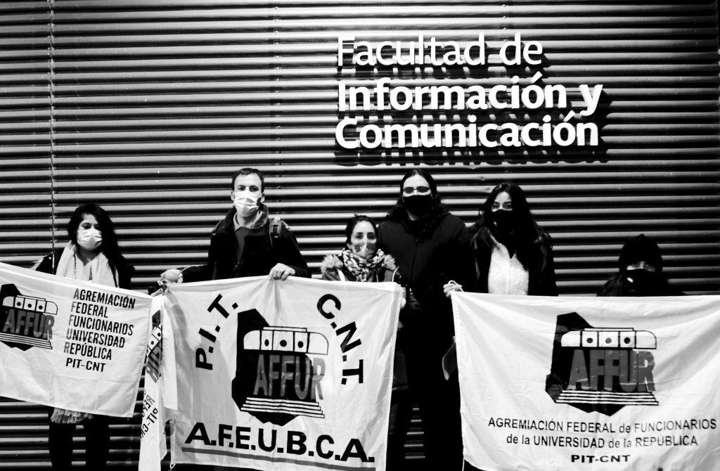 Movilización por presupuesto, FIC 12/08/20. Foto: Camila Méndez.
