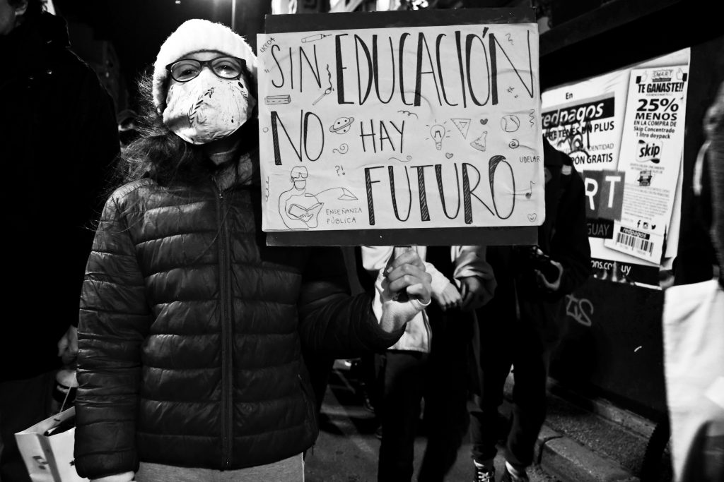 Marcha del 14 de agosto. Foto: Camila Méndez, 14/08/2020.